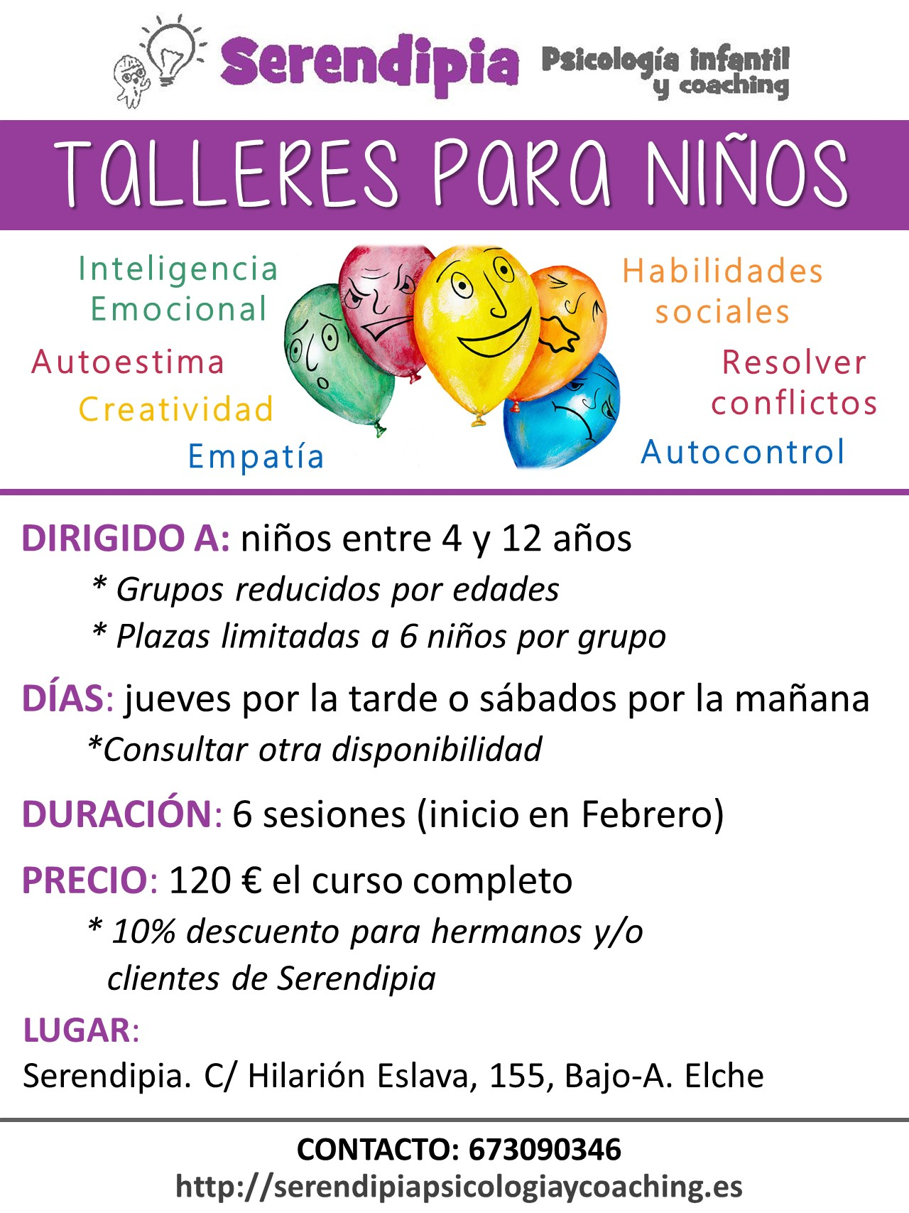 cartel TALLERES IE 2